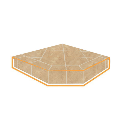 WoodEze Desert Dunes Single Cut 40'' x 40'' Hearth Pad Riser