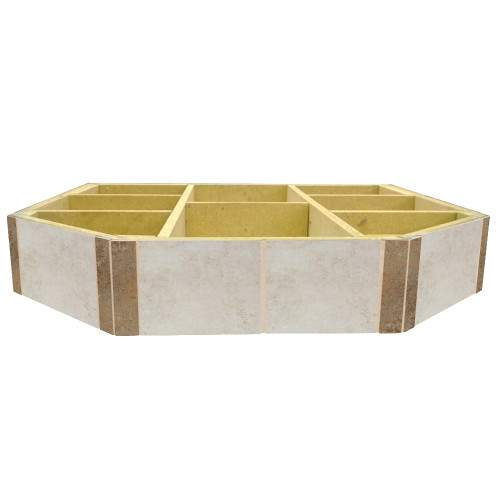 WoodEze Sea Breeze Double Cut 48'' x 48'' Hearth Pad Riser