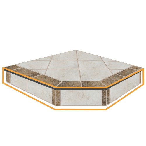 WoodEze Sea Breeze Single Cut 48'' x 48'' Hearth Pad Riser