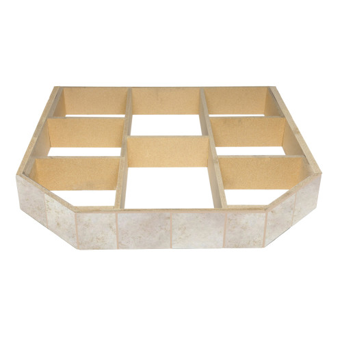 WoodEze Champagne Cork Double Cut 40'' x 40'' Hearth Pad Riser