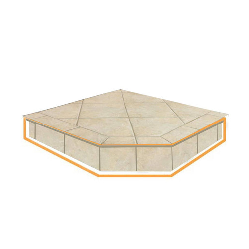 WoodEze French Camellia Single Cut 40'' x 40'' Hearth Pad Riser
