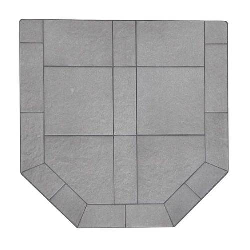 Kalmia Reed 48'' x 48'' Double Cut Hearth Pad
