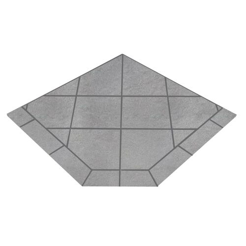 Kalmia Reed 48'' x 48'' Single Cut Corner Hearth Pad