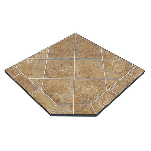 Amber Saffron 48'' x 48'' Single Cut Corner Hearth Pad