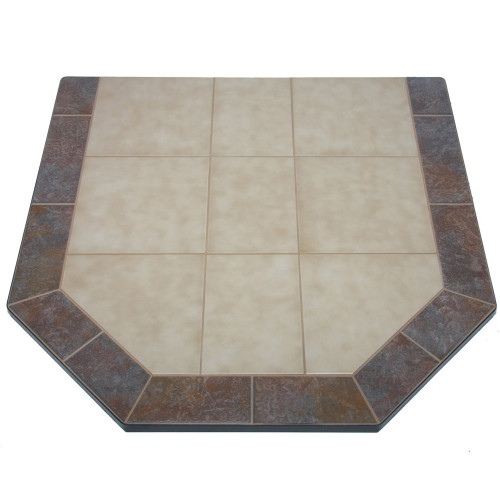 Aurora Eve 48'' x 48'' Double Cut Hearth Pad