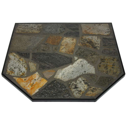 Imperial Mayan Stone 48'' x 48'' Double Cut Hearth Pad