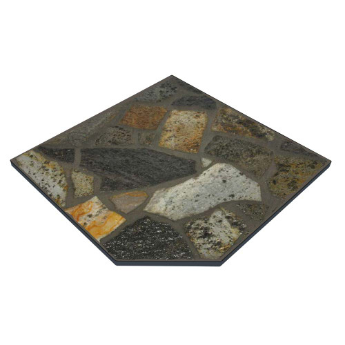 Imperial Mayan Stone 40'' x 40'' Single Cut Corner Hearth Pad