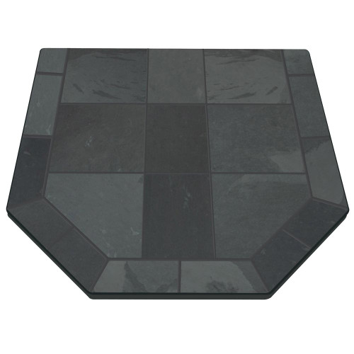Stone Grey Slate 40'' x 40'' Double Cut Hearth Pad