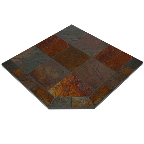 Persian Slate 40'' x 40'' Single Cut Corner Hearth Pad