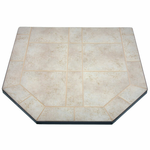 Champagne Cork 40'' x 40'' Double Cut Hearth Pad