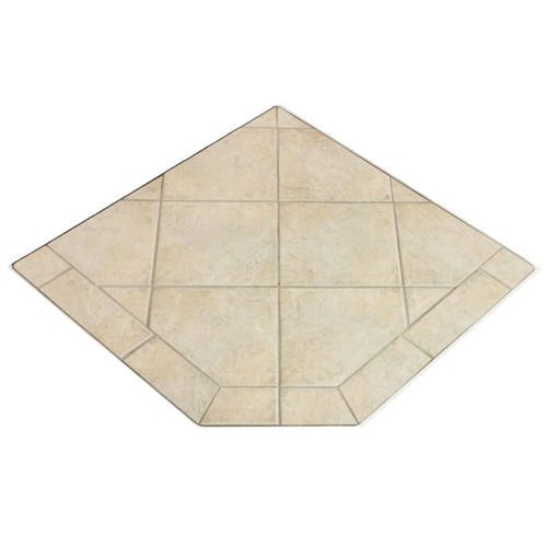 French Camellia 40'' x 40'' Single Cut Corner Hearth Pad