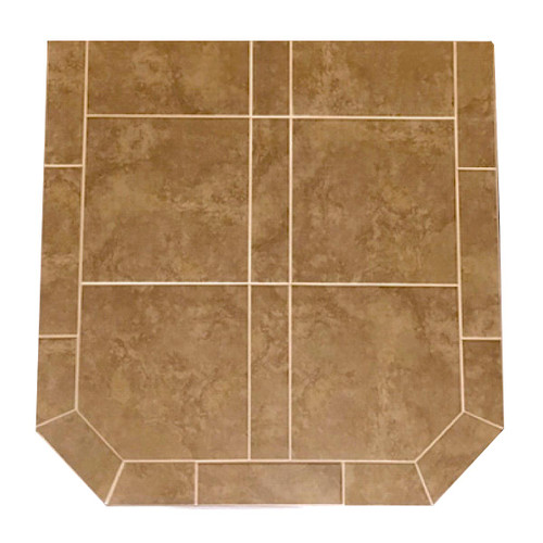 Buttercup Brie 48'' x 48'' Double Cut Hearth Pad