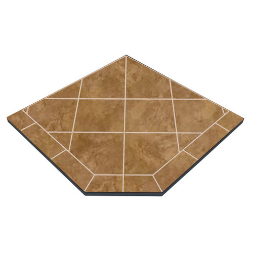 Buttercup Brie 40'' x 40'' Single Cut Corner Hearth Pad