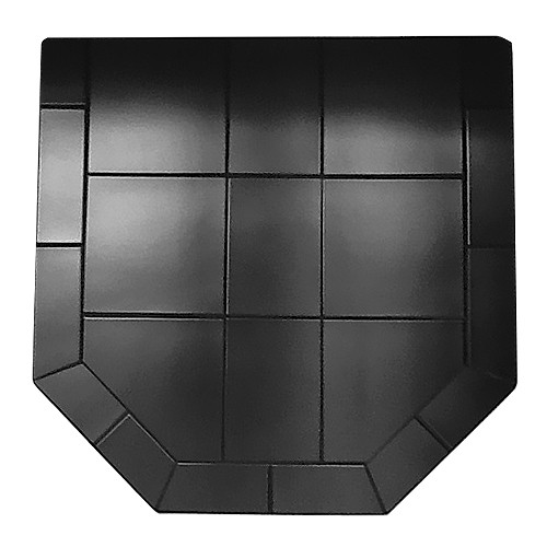 Black Kindle 40'' x 40'' Double Cut Hearth Pad