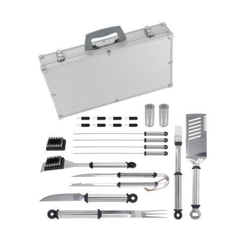 Mr. Bar-B-Q Stainless Steel Tool Set - 21 Pieces