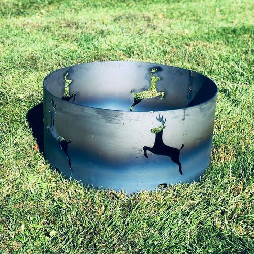 Leaping Deer Fire Pit Ring- 30 ""