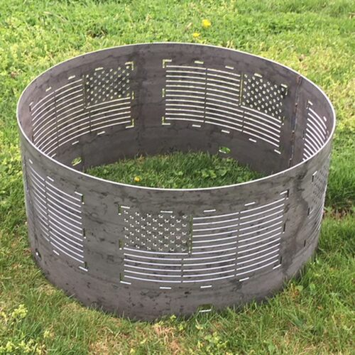 Flag Fire Pit Ring
