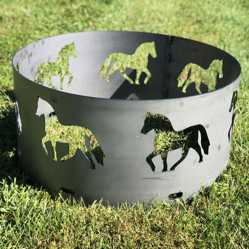"""Horse Fire Pit Ring- 30"""""""