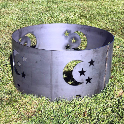 Moon & Stars Fire Pit Ring- 30 ""
