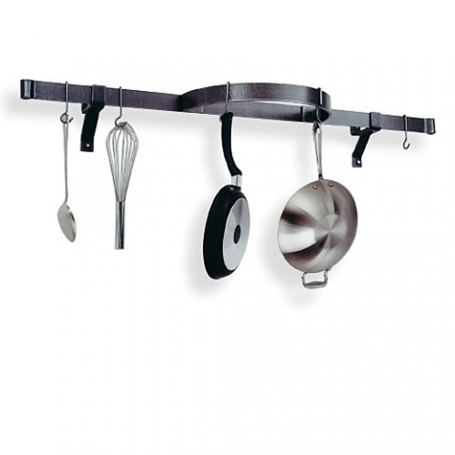 Wall Shelf with Half Circle-Hammered Steel
