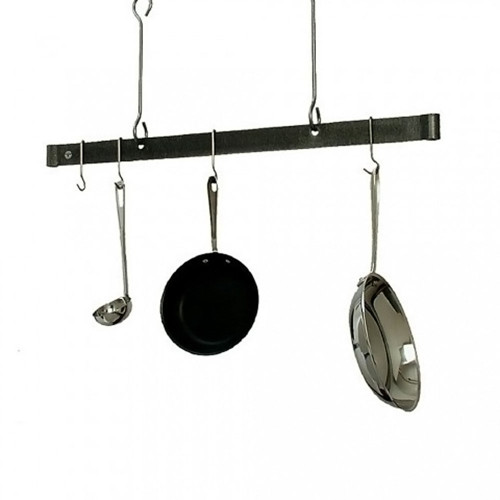 36'' Offset Hook Ceiling Bar Rack-Hammered Steel