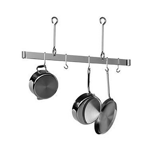 36'' Offset Hook Ceiling Bar Rack-Stainless Steel