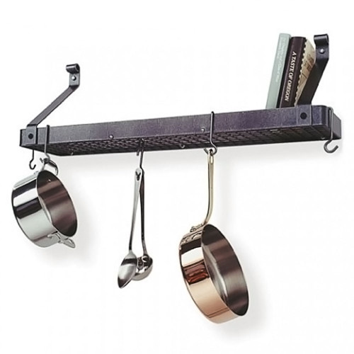 Deep Bookshelf Rack-Hammered Steel