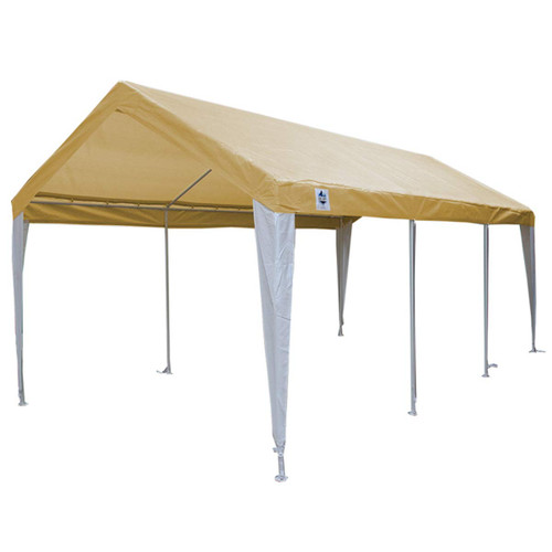 King Canopy 10' x 20' Tan and White Canopy