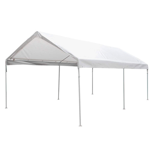 King Canopy 10' x 20' 6-Leg White Universal Canopy