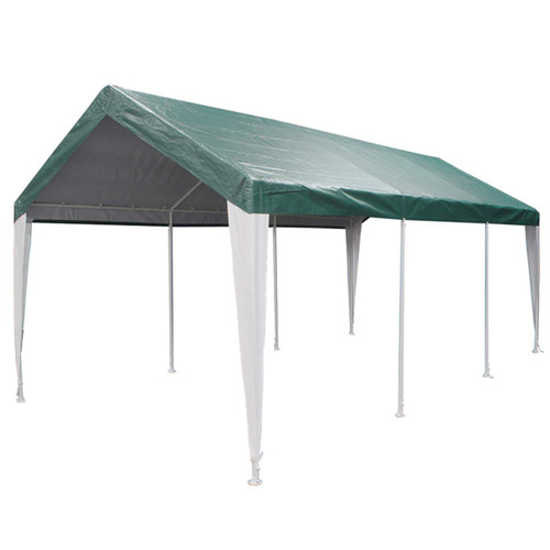 King Canopy 10' x 20' 8-Leg Green & White Universal Canopy