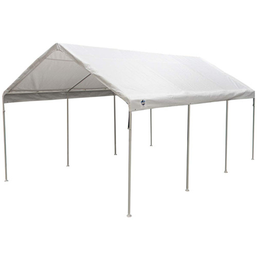 King Canopy 12' x 20' 8-Leg White Universal Canopy