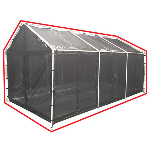 King Canopy 10' x 20' Black Canopy Screen Room