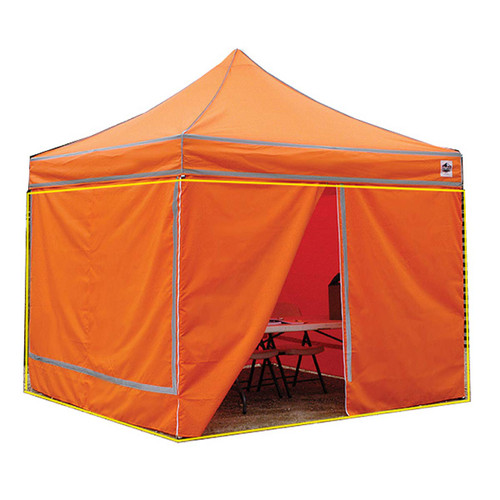 King Canopy 10' x 10' Orange Side Wall - 4 Pack