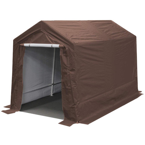 King Canopy 7' x 12' Brown Storage Garage