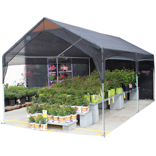 king Canopy 10' x 20' Black Garden Shade Canopy