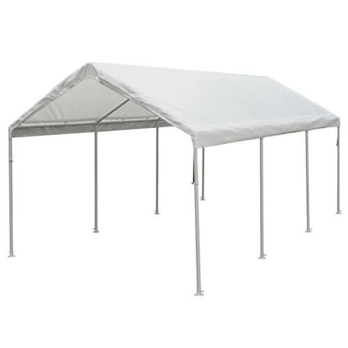 King Canopy 10' x 20' White 8 Leg Canopy