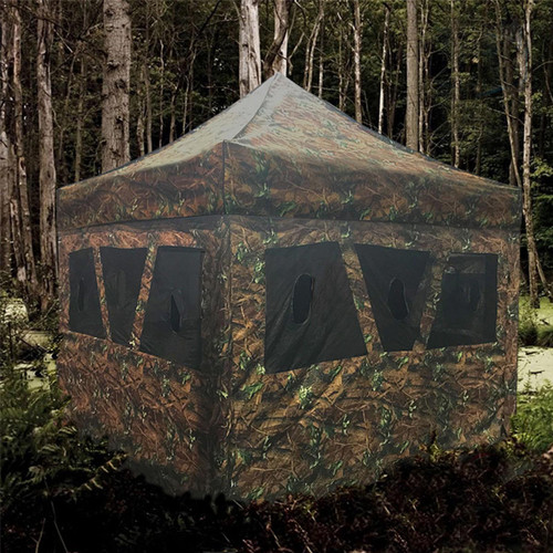8' X 8' Hunting Blind & Instant Pop Up Tent - Camo
