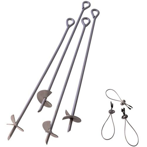 "ShelterLogic Set of 4 30"" Auger Shelter Anchors"