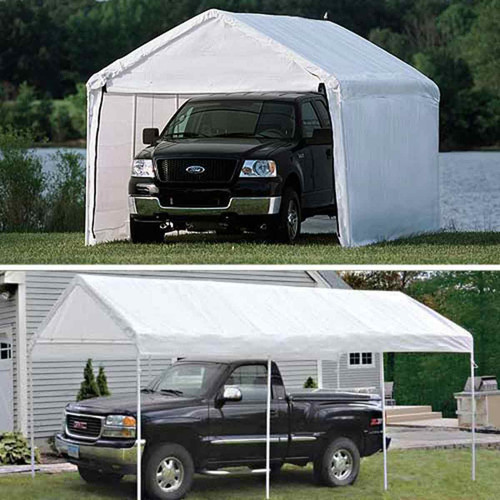 ShelterLogic 10' x 20' Max AP 8-Leg 2-in-1 Enclosed Canopy