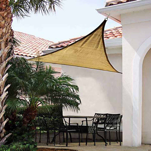 Shelter Logic 12 Foot Triangle Sun Shade Sail