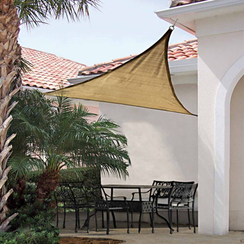 Shelter Logic 16 Foot Triangle Sun Shade Sail