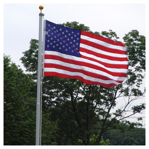 US Flag Store Heavy Duty 20-Feet Residential Flagpole - Made in the USA