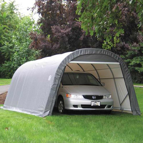 ShelterLogic 12' x 24' x 8' RoundTop Steel Gray Garage