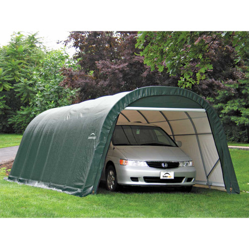 ShelterLogic 12' x 24' x 8' RoundTop Forest Green Garage