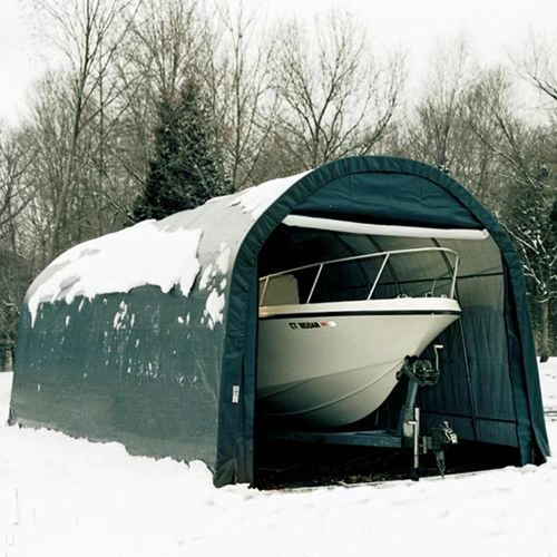 ShelterLogic 12' x 20' x 10' RoundTop Hunter Green Garage