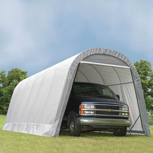 ShelterLogic 12' x 24' x 10' RoundTop Steel Gray Garage