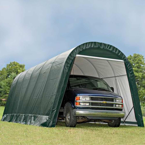 ShelterLogic 13' x 24' x 10' RoundTop Hunter Green Garage