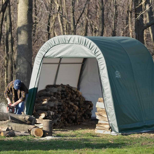 ShelterLogic 10' x 8' x 8' RoundTop Green Storage Shelter - 77804
