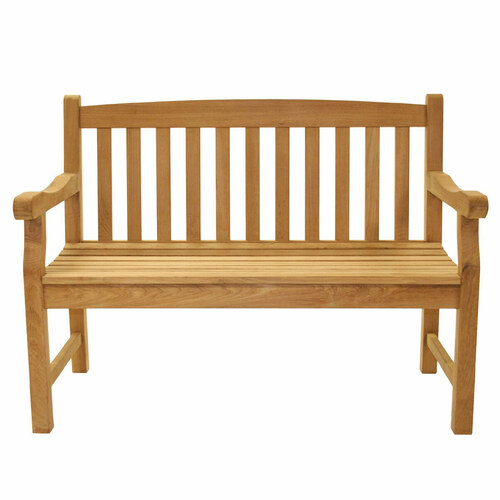 Classic Teak Two-Seater Bench
