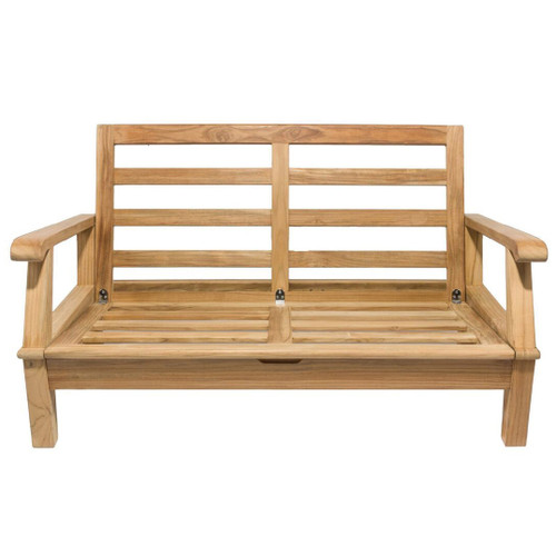 Miami Teak Two Seater Sofa Frame